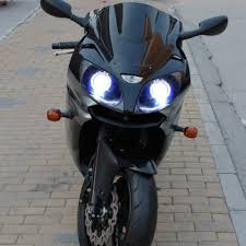 kt headlight for kawasaki ninja zx6r zx 6r 2000 2002 led angel eye
