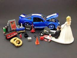 mechanic cake topper buy auto mechanic car loving groom being dragged by wedding