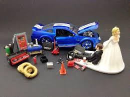 mechanic wedding cake topper buy auto mechanic car loving groom being dragged by wedding