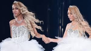 dazzy store 2人 のgenkingが純白ウェディングドレス姿で登場 tgc2015 autumn