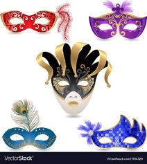 carnival masks carnival masks royalty free vector image vectorstock