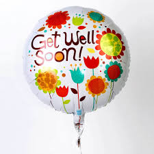 get well soon and balloons get well soon messages modern floral get well soon helium