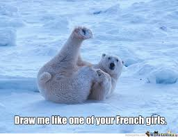 Polar Bear Meme - polar bear posing by cbsman meme center