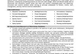 Construction Superintendent Resume Templates Golf Course Superintendent Resume Golf Course Resume Contegricom