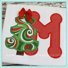 christmas applique christmas tree applique alphabet