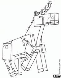 minecraft coloring pages unicorn the unicorn of minecraft coloring page coloring pages pinterest