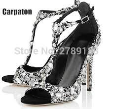 wedding shoes jeweled heels 2016 luxury diamond wedding shoe jeweled heel gladiator sandals