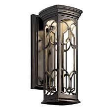 Kichler Lighting Dealers by Kichler 49226ozled Led Outdoor Wall Mount Wall Porch Lights
