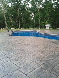 Stamped Concrete Backyard Ideas by Enjoy The Summer With A New Stamped Concrete Pool Deck Grand