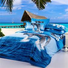 dolphin 3d bedding oil painting printed duvet cover bedding sets