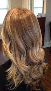 blonde waterfall of cascading color and highlights balayage and