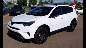 toyota awd cars 2018 toyota rav4 se awd in alpine white review and walk around