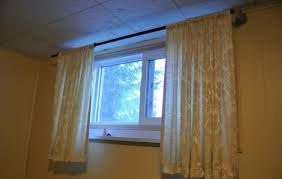Small Window Curtain Designs Designs Diy Basement Window Curtains Basement Pinterest Basement