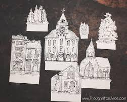 diy printable christmas village anthropologie inspired