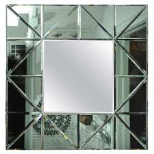 Mirror For Sale Green Glass Triangle Surround Bevel Mirror For Sale At 1stdibs