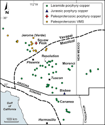 Jerome Arizona Map by Squaw Peak Arizona Paleoproterozoic Precursor To The Laramide