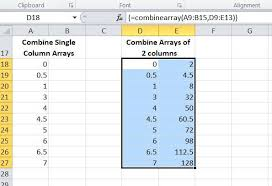 combining arrays newton excel bach not just an excel blog