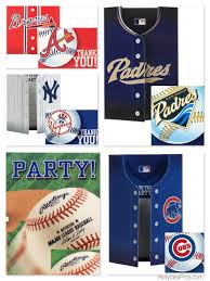 mlb team logo baseball party invitations u0026 thank you notes