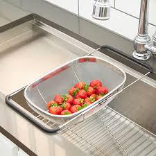 Kitchen Sink Basket Polder Stainless Steel Mesh Sink Basket The Container Store