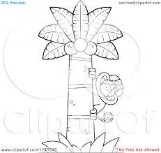 coconut tree monkey clipart china cps
