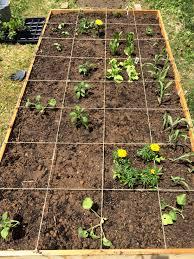 square foot garden plans u2013 plants on deck