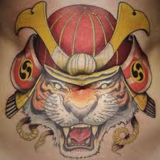 artist ben shaw makes this snarling tiger a samurai warrior