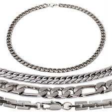 chain necklace styles images 20 quot men stainless steel variety chain necklace 4 styles ebay jpg