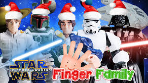 daddy darth vader star wars finger family song toy nursery rhyme