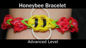 rainbow loom honey bee bracelet youtube