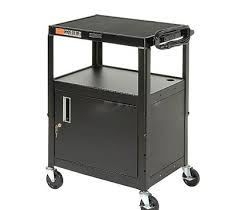 multimedia cart with locking cabinet adjustable multipurpose cart with cabinet mobile media laptop