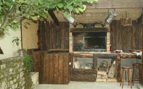 cuisine d été en bois cuisines d été cabanon barbecues argentins
