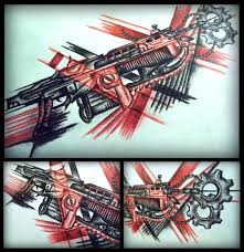 lancer from gears of war tattoo design by mortar on deviantart