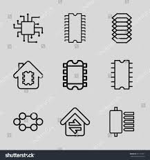 circuit icons set set 9 circuit stock vector 651110311 shutterstock