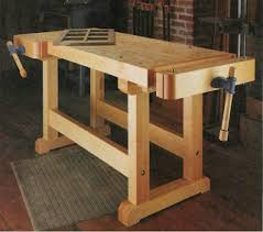 Free Plans To Build A Woodworking Bench by Free How To Make A Wooden Workshop Work Bench And Vice U2013 Diy