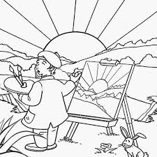 summer themed worksheets kids coloring