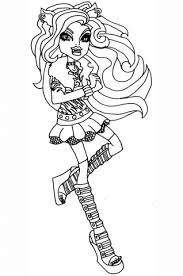 monster high clawdeen wolf coloring pages clawdeen coloring page free printable coloring pages