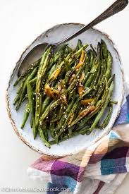 oven roasted green beans with garlic soy glaze food channel