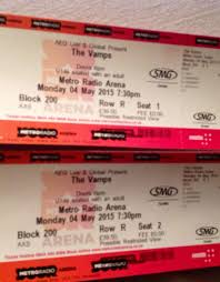 the vamps concert metro radio arena 4th may 2015 tickets