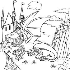 dragon coloring pages print kids coloring