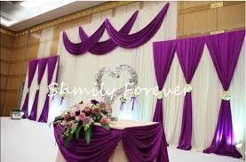 Purple And White Wedding New Popular 1 Set 2small 1 Big White Purple Backdrops For