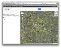 Google Maps By Coordinates Draw A Circle In Google Earth Or Google Maps Codenes