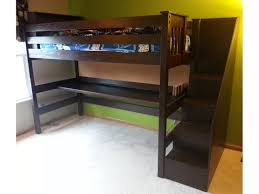 bedroom full size loft bed with stairs large cork pillows full