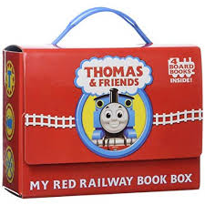 thomas friends red railway book box bright u0026 early board