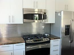 Kitchen Backsplash Panel by Small Kitchen Decoration Using Stainless Steel Kitchen Backsplash