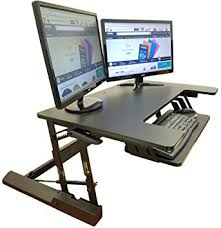 36 Inch Computer Desk Amazon Com Standing Desk Height Adjustable Stand Up Sit Stand