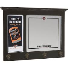 harley davidson home decor catalog harley davidson oil can bar mirror with coat hooks www kotulas