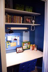 Desk In Closet Diy Office Construction How Lighting Outlets - Closet home office design ideas