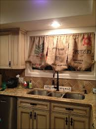 Material For Kitchen Curtains by Kitchen Elegant Cream Martha Stewart Curtains Beige Garden
