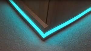 kitchen plinth lights light tape plinth corner installation youtube