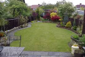 mixed materials in small garden lawns pinterest small